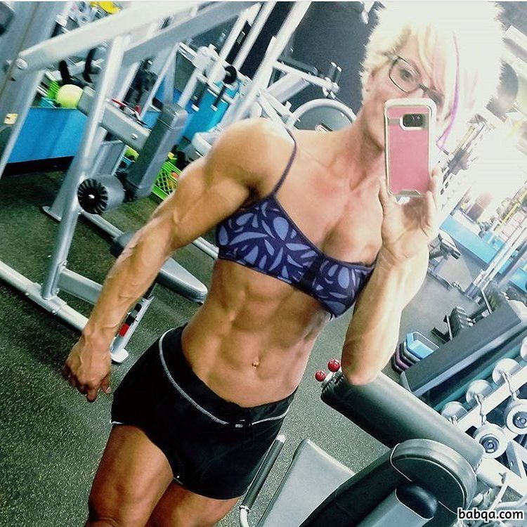 sexy female with muscle body and muscle bottom picture from linkedin