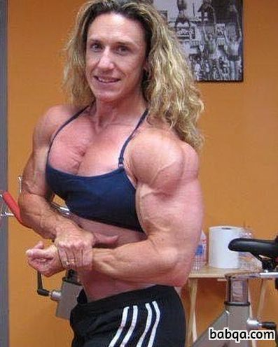 hottest girl with muscle body and muscle biceps picture from g+