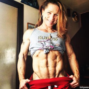 hottest woman with muscular body and muscle biceps picture from reddit