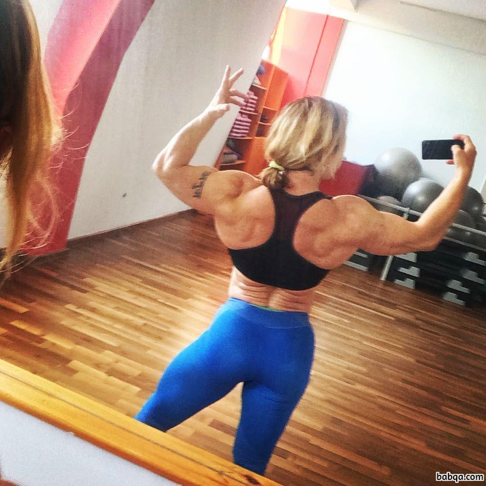 awesome lady with fitness body and toned booty post from tumblr