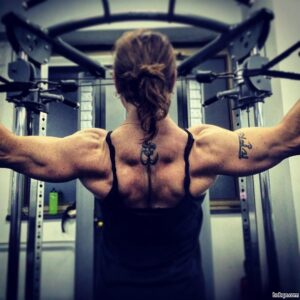 sexy woman with fitness body and toned biceps picture from tumblr