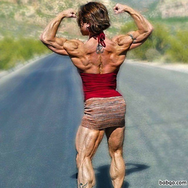 hot female bodybuilder with strong body and muscle ass post from facebook