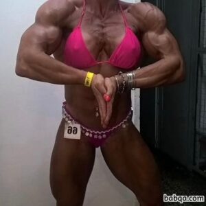 spicy female bodybuilder with fitness body and toned bottom photo from g+