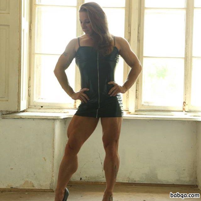 awesome woman with fitness body and muscle ass photo from facebook