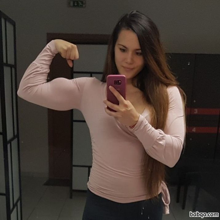 spicy female bodybuilder with strong body and muscle ass repost from facebook