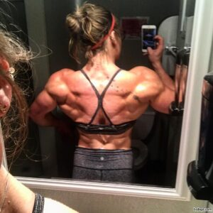 beautiful female bodybuilder with muscle body and toned biceps image from flickr