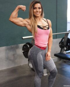 awesome lady with muscular body and muscle legs image from instagram