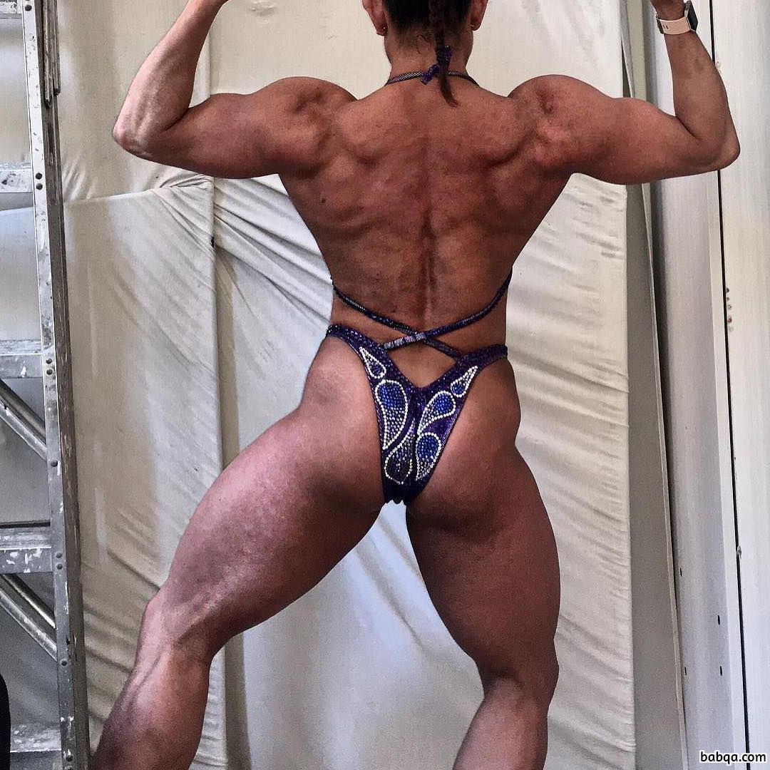 beautiful female bodybuilder with muscular body and toned ass image from insta