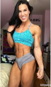 beautiful woman with muscle body and muscle ass image from g+