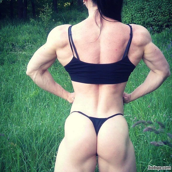 perfect lady with fitness body and muscle arms pic from flickr