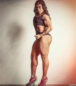 cute lady with strong body and muscle booty pic from reddit