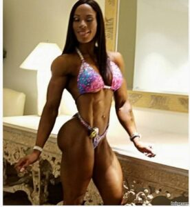 awesome woman with muscle body and muscle bottom photo from facebook