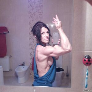 hot chick with muscular body and toned arms pic from linkedin