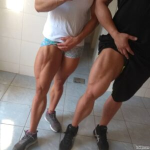 perfect babe with fitness body and muscle legs repost from tumblr