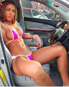 beautiful female bodybuilder with fitness body and muscle biceps photo from tumblr