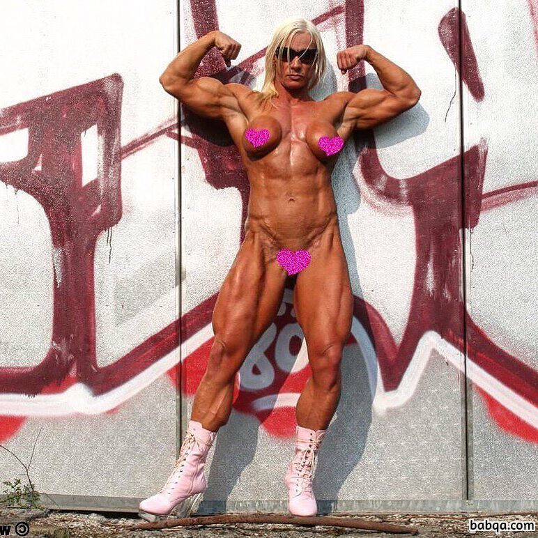 beautiful female bodybuilder with muscle body and toned bottom repost from tumblr