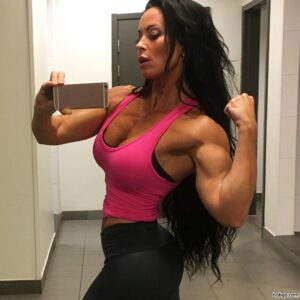 beautiful lady with muscular body and muscle booty post from flickr