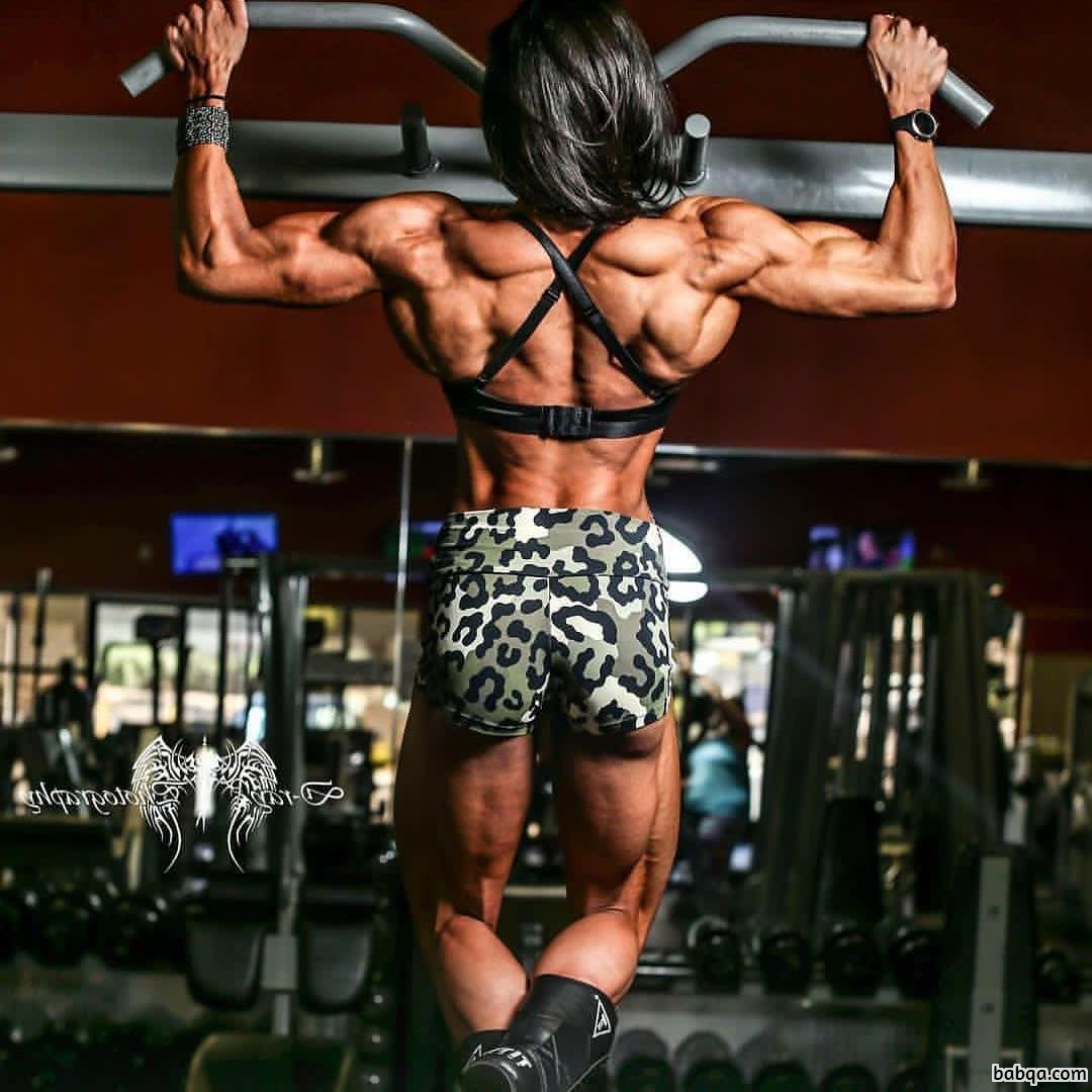 beautiful female with fitness body and muscle legs picture from linkedin