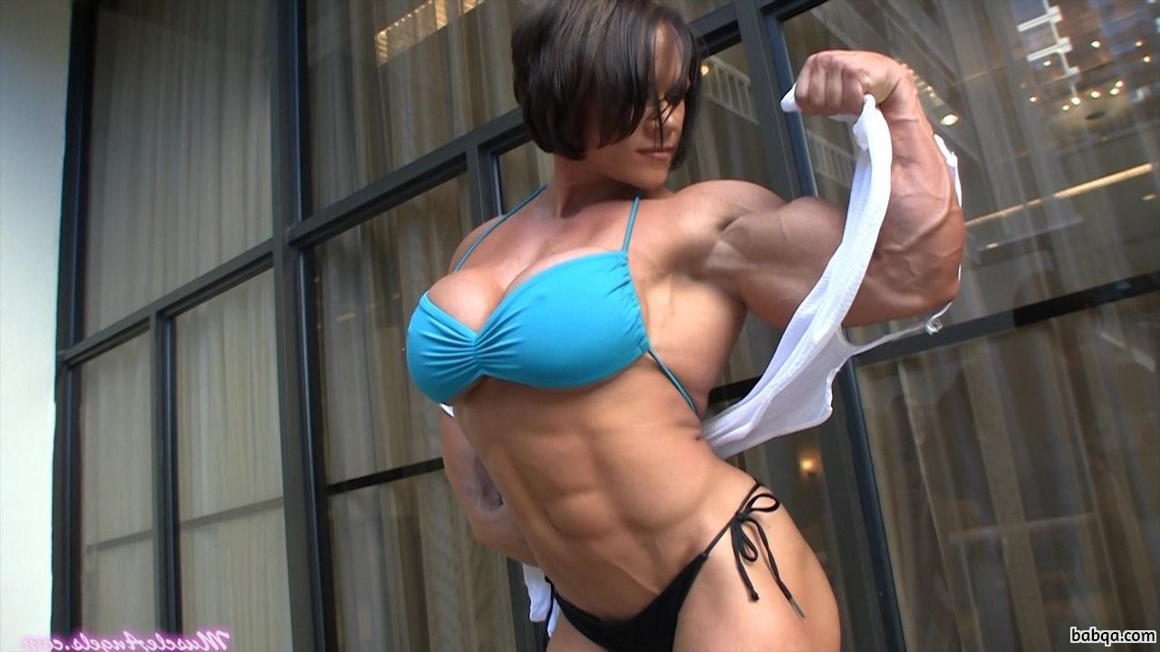 sexy female with muscular body and muscle booty post from flickr