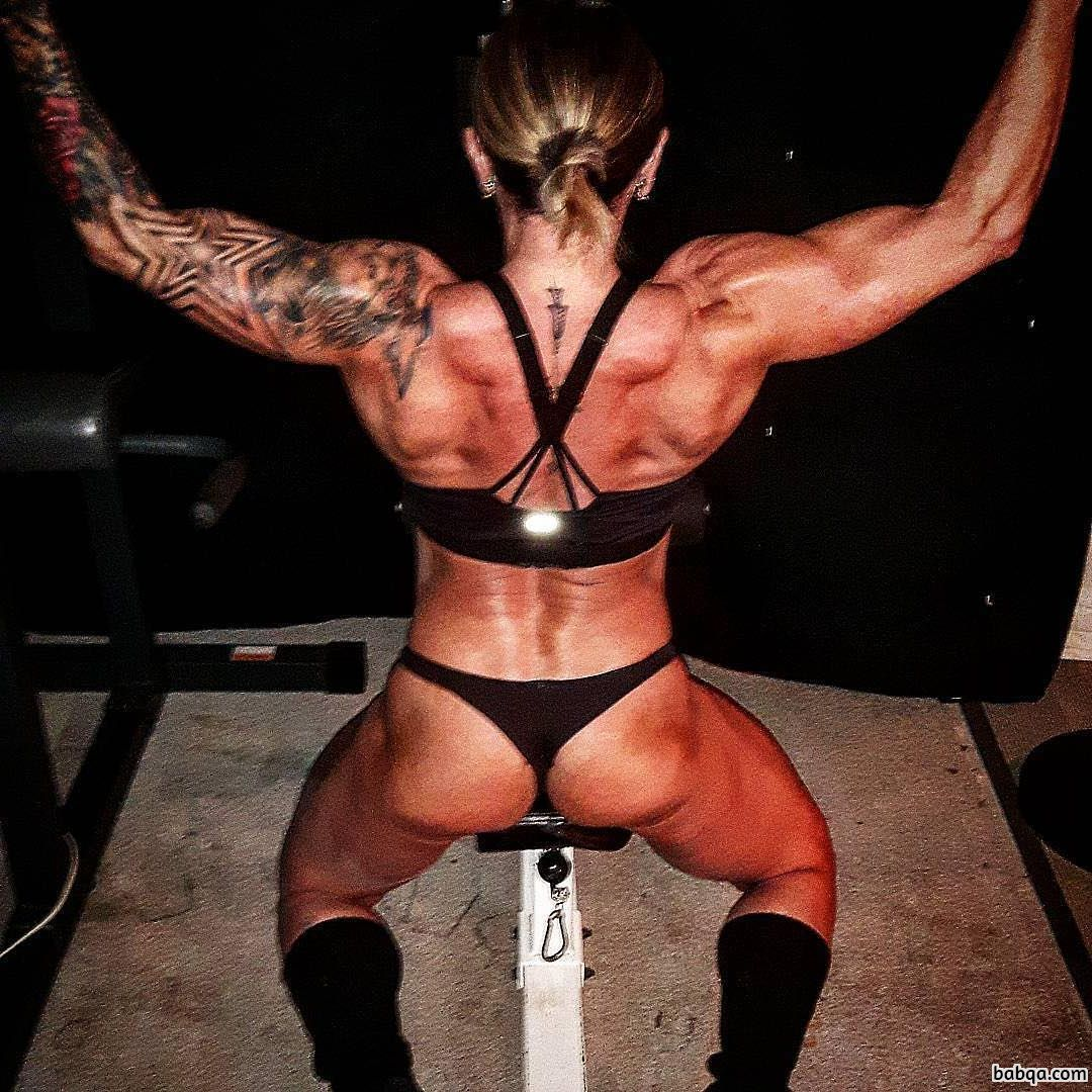 perfect lady with strong body and muscle legs post from reddit