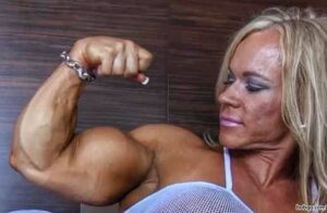 spicy female bodybuilder with muscle body and muscle arms photo from flickr
