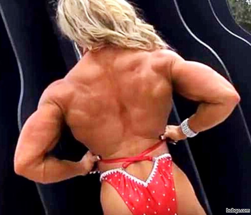 awesome female bodybuilder with strong body and muscle booty pic from tumblr