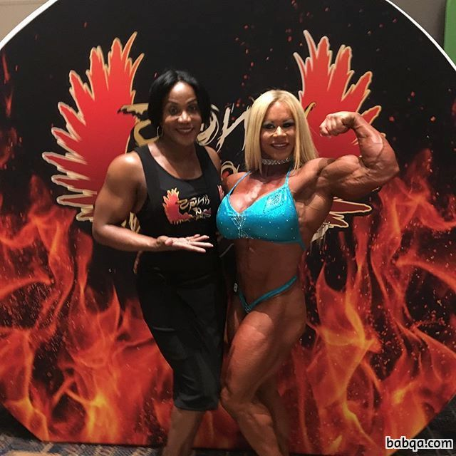 spicy girl with muscle body and muscle biceps pic from linkedin