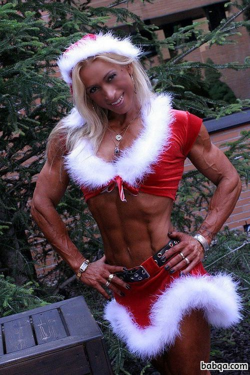 hot chick with fitness body and muscle biceps post from tumblr