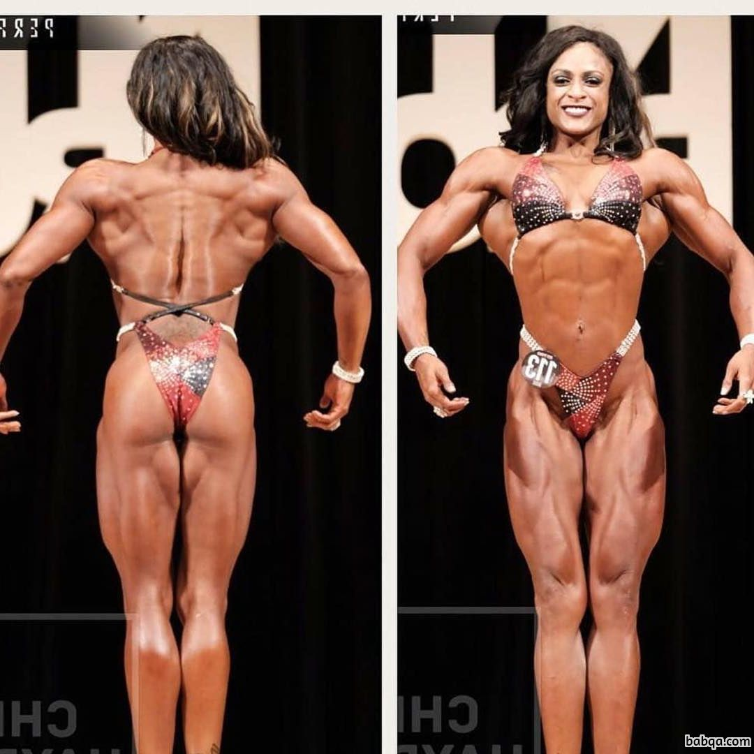 awesome female with fitness body and muscle ass repost from reddit