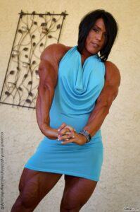 beautiful lady with muscle body and toned legs photo from tumblr