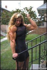 perfect woman with muscle body and toned biceps pic from linkedin