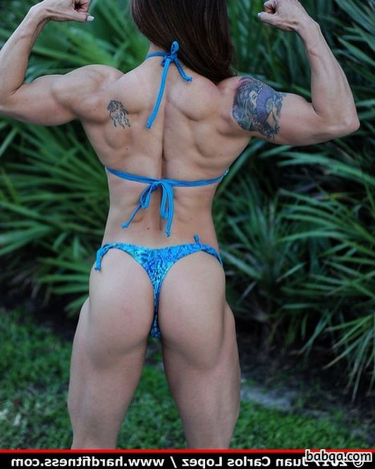 cute female bodybuilder with strong body and muscle biceps pic from instagram