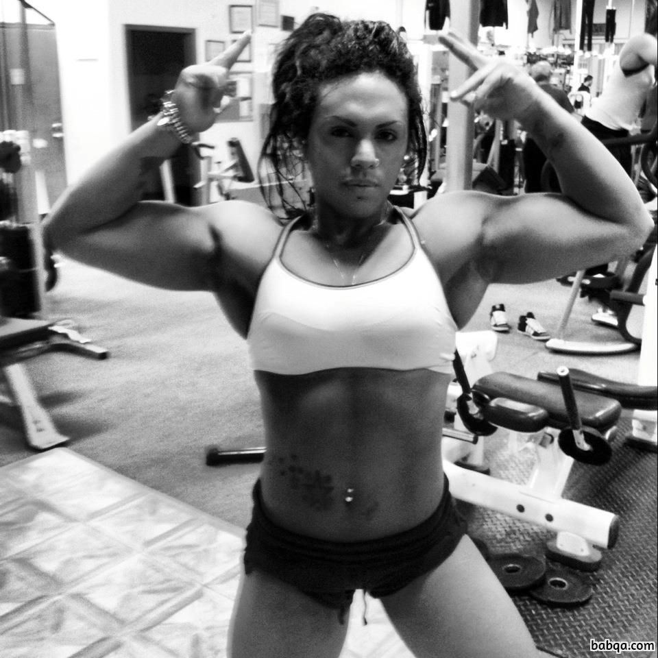hottest female bodybuilder with muscle body and muscle booty post from g+