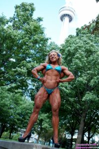 cute female with muscle body and toned legs picture from facebook