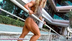 hot female bodybuilder with fitness body and toned legs repost from linkedin