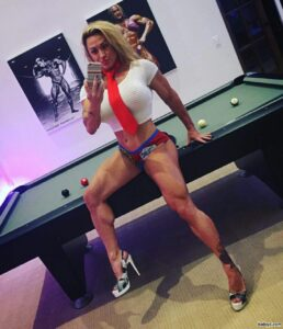 perfect female with muscle body and muscle bottom pic from g+