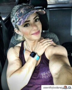 cute lady with muscular body and muscle arms image from facebook