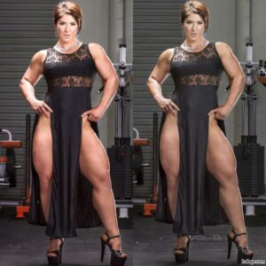 awesome chick with muscular body and toned legs image from tumblr