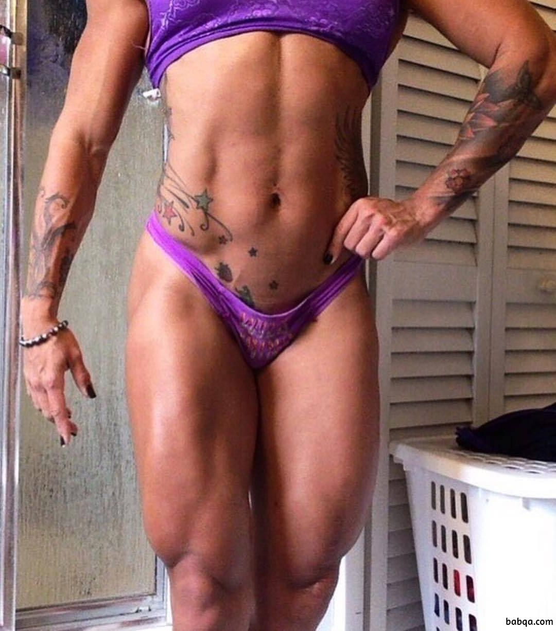 cute woman with strong body and muscle arms picture from facebook