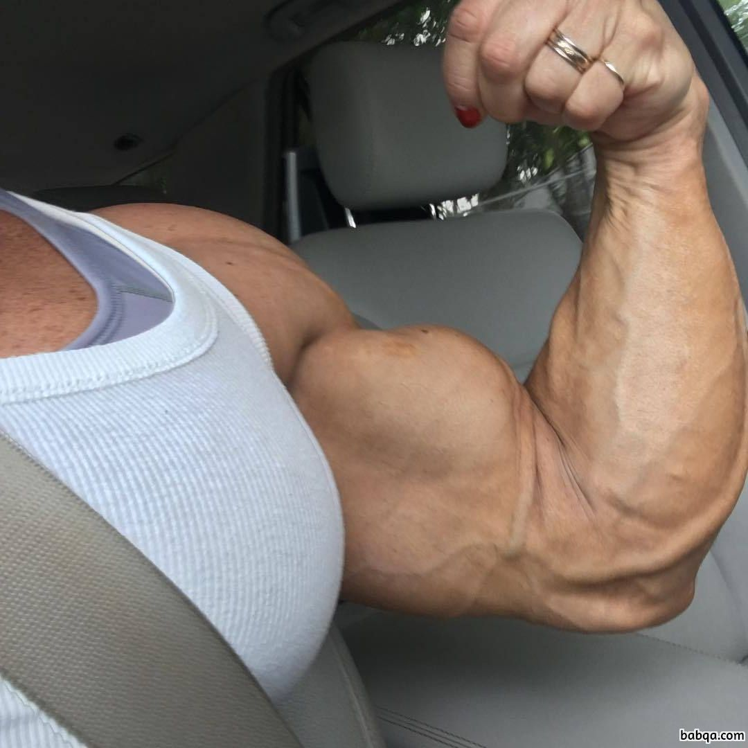 cute female bodybuilder with muscular body and muscle ass post from linkedin