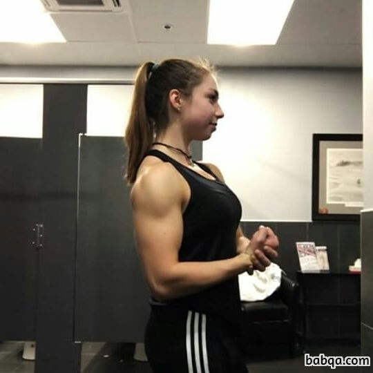 sexy female with muscle body and muscle bottom post from flickr