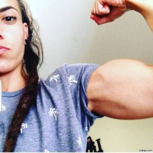 beautiful female bodybuilder with strong body and toned biceps picture from tumblr