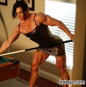 awesome lady with muscle body and muscle arms image from reddit