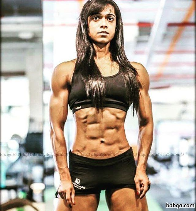 hot female bodybuilder with muscle body and muscle arms repost from facebook