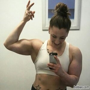 spicy female bodybuilder with muscle body and toned legs post from facebook