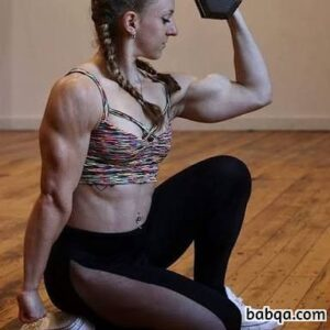 cute female bodybuilder with strong body and toned biceps pic from linkedin