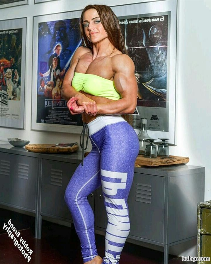 hottest chick with muscle body and muscle arms repost from flickr