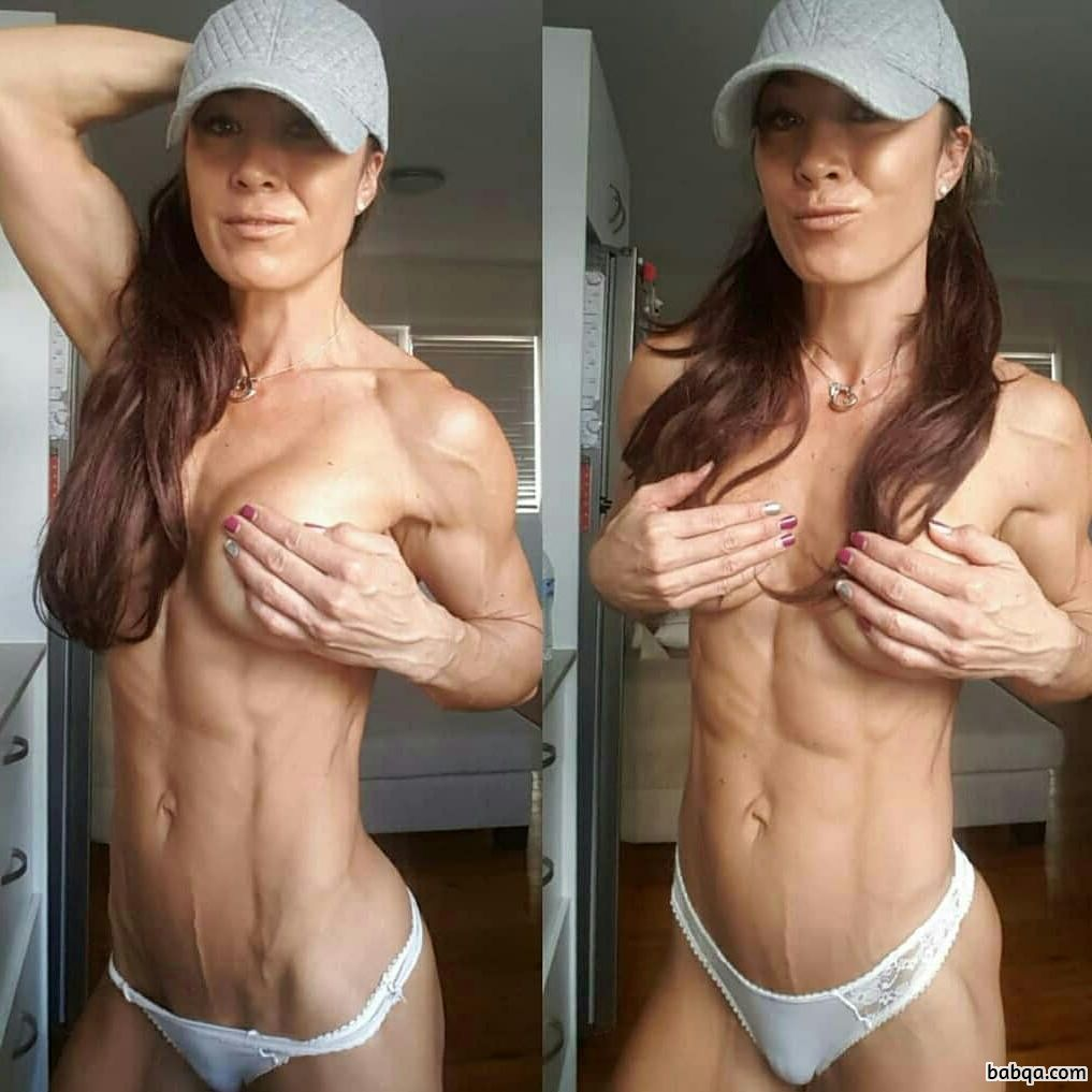 perfect female bodybuilder with fitness body and toned booty image from flickr