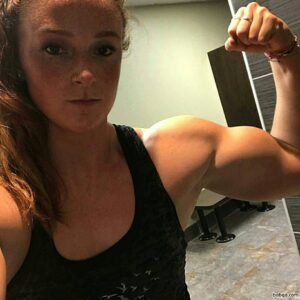 awesome woman with fitness body and muscle arms photo from linkedin