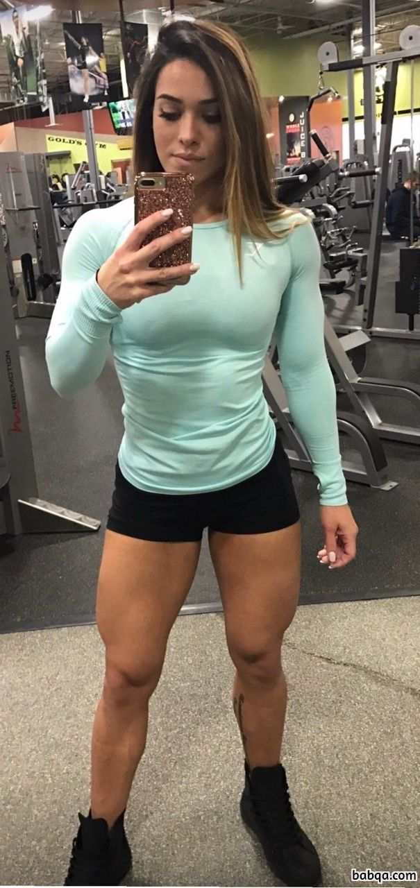awesome babe with muscular body and muscle booty post from g+